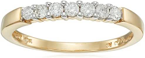 10k Gold Round 7-Stone Diamond Ring (1/4 cttw, H-I Color, I2-I3 Clarity)