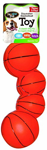 Bow Wow Basketball Vinyl Squeaky Dog Toy