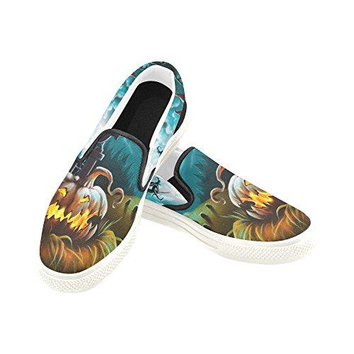 D-story Custom Happy Halloween Zucca Uomo Slip-on Scarpe Di Tela Moda Sneaker Multicoloured9