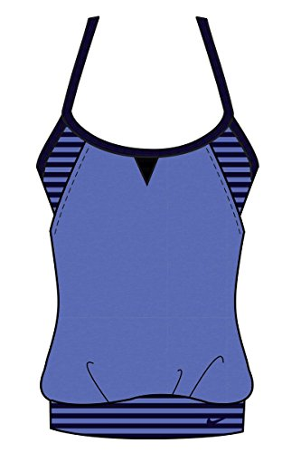 b9c79f0d3d NIKE Women s Laser Sport Tankini Top Medium Blue Small
