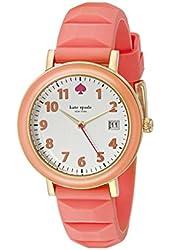 kate spade new york Women's 1YRU0805 Metro Watch with Pink Silicone Band