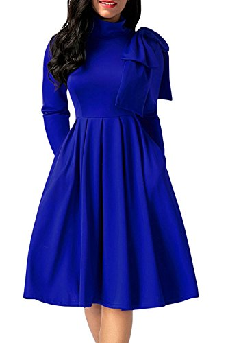 embellished blue skater dress - 6