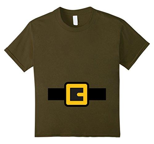Kids Dwarf Costume Shirt, Halloween Matching Shirts for Group 8 Olive -