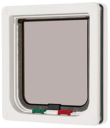 (Cat Mate 4 Way Locking Cat Flap, White)