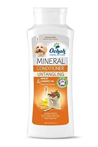 Ochah Mineral Salt Conditioner with Wheat & Linseed Oil-Naturally Conditions & Detangles Hair, While Reducing Shedding and Easing Irritated Sensitive Skin. Natural, Reliable, and Effective- 16.9oz