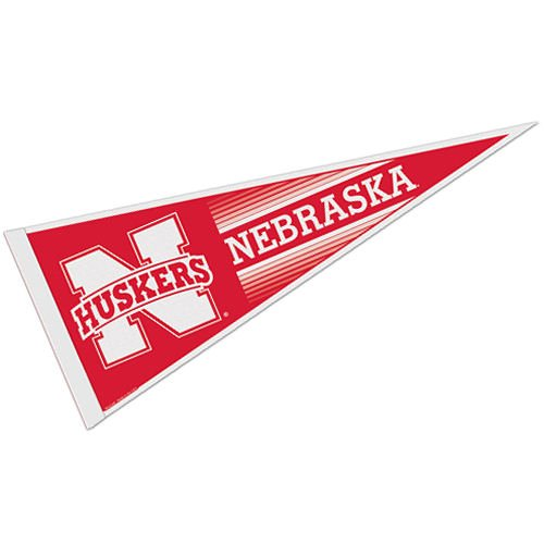 NEBRASKA HUSKERS OFFICIAL LOGO FULL SIZE FELT PENNANT - Nebraska Pennant