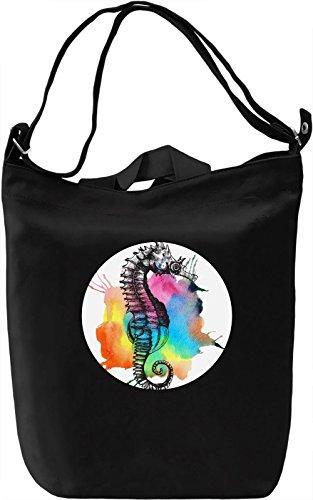 Sea Horse Borsa Giornaliera Canvas Canvas Day Bag  100% Premium Cotton Canvas  DTG Printing 