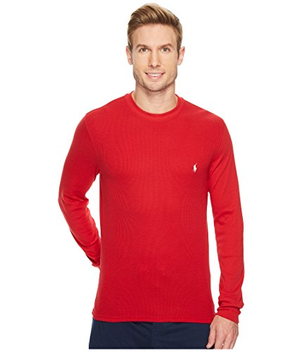 Polo Ralph Lauren Men's Folded Waffle Mixed Media Long Sleeve Crew Red Small ()