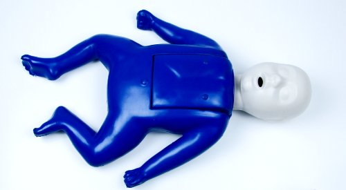 Life/Form CPR Prompt BLUE Single Infant Manikin w/10 Lung Bags & Tool - LF06002U by Life/Form by Nasco