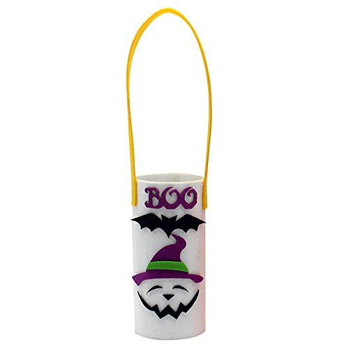 Decdeal Halloween Wine Bottle Bag Non-Woven Bottle Bag Candy Bag with Handle Halloween Party Costumes Supplies Decorations - Halloween Good Choice -