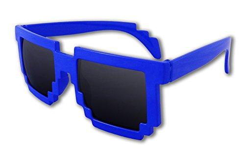 8-Bit Pixel Retro Computer Sun Glasses Nerd Sunglasses 8 Bit - Sunglasses Nerds