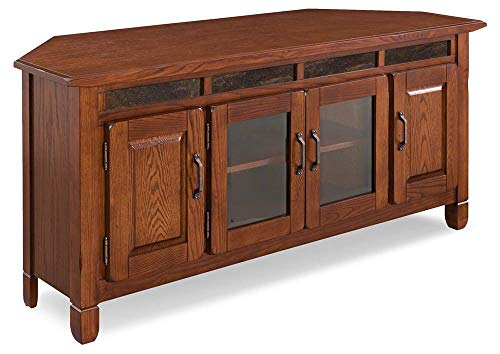 Autumn Slate Tile - 56 in. Corner TV Console with Slate Tiles
