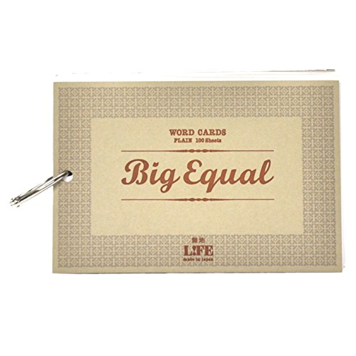 Life A6 size Big Equal flash cards, beige P315b