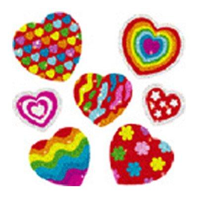 Dazzle Hearts Sticker [Set of 3]