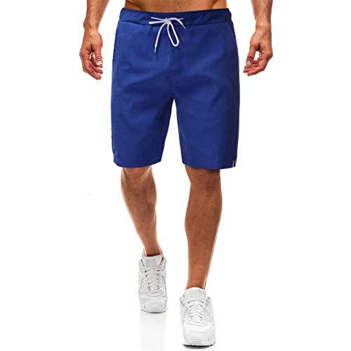 MIS1950s Men's Gym Drawstring Walk Short Pocket Outdoor Cargo Shorts Quick Dry Shorts Workout Training Running
