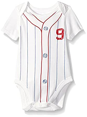 The Children's Place Baby Vintage Baseball Bodysuit, Simply White, 3-6 Months