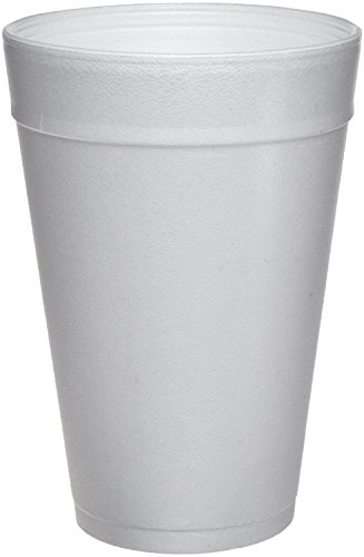 DART WHITE FOAM CUP 32 OZ 4 PACKS OF 25 (100 COUNT) ()