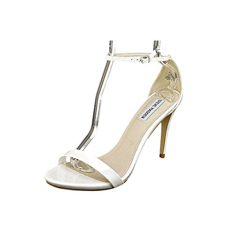 Steve Madden Stecy Womens Size 7.5 White Dress Sandals Shoes