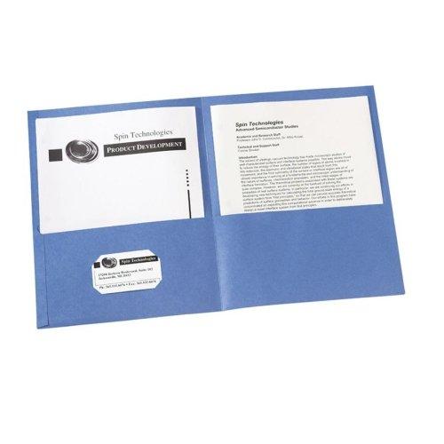 Wholesale CASE of 20 - Avery 2-Pocket Folders w/o Fasteners-Two Pocket folder, 8-1/2''x11'',20 Sht Cap., 25/BX, Light Blue