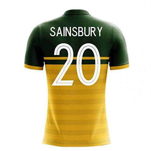 - 2018-19 Australia Airo Concept Home Football Soccer T-Shirt Jersey (Trent Sainsbury 20)