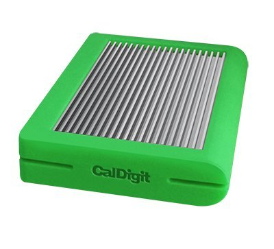 CalDigit Tuff USB-C 2TB HDD Portable Rugged Tough USB 3.1 Type-C, Macbook, 2016 Macbook Pro, Thunderbolt 3 Compatible (Green) by CalDigit