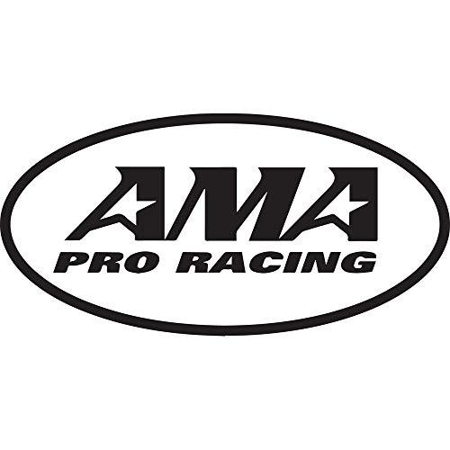 NBFU DECALS AMA PRO Racing (Black) (Set of 2) Premium Waterproof Vinyl Decal Stickers for Laptop Phone Accessory Helmet CAR Window Bumper Mug Tuber Cup Door Wall Decoration