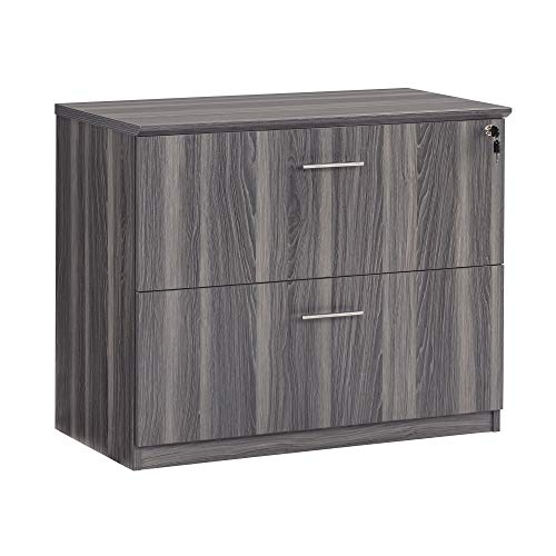 Safco Products MVLFLGS Medina Lateral File Cabinet, 2 Drawer, Gray Steel