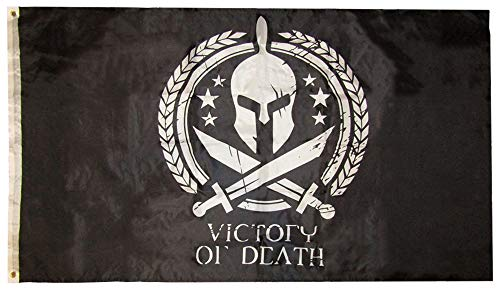 American Wholesale Superstore 3x5 Molon Labe Victory or Death Spartan Helmet Swords 3'x5' Premium Quality Heavy Duty Polyester Indoor Outdoor Flag]()