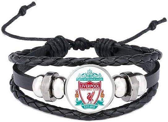 England Football Club Logo Bracelets Bangles España Barcelona Real Madrid Glass Jewelry Team Logo Pulsera Fan Gifts: Amazon.es: Joyería
