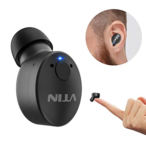 VTIN Wireless Earbuds, Mini Bluetooth V4.1 Earphone with 2 Magnetic USB Chargers and 6-Hr Playing Time, Wireless Car Bluetooth Earpiece with Mic Hands-free Noise Cancelling for iPhone Samsung Android