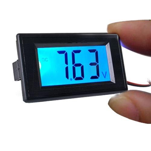 Ecloud Shop Afficheur Voltm/ètre LCD R/étro/éclair/é Bleu 20V 3 Digits