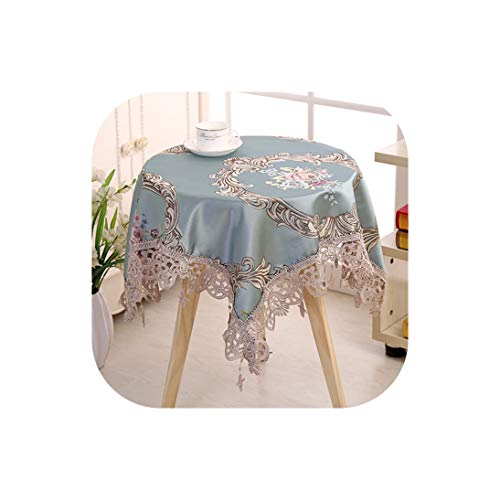 (Proud Rose European Round Tablecloth Big Size Cover Cloth Lace Bedside Table Cover Desk Covers Home Decoration Kitchen Supplies,Style 1,110X110Cm Square )