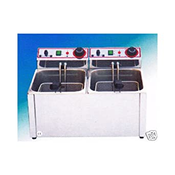 Freidora Eléctrica profesional de 6+6 litros cm 52x40x31 RS1038: Amazon.es: Industria, empresas y ciencia