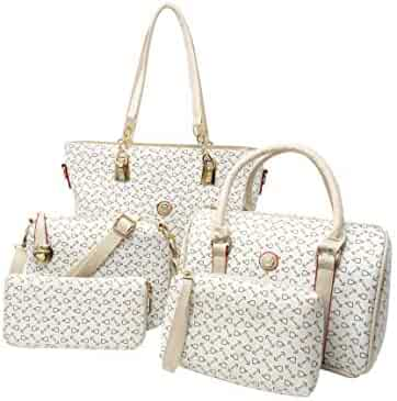 Ready For Anything 5 Piece Elegant Handbag Set for Women Large Top Handle  Purse Body Shoulder fd32fa5cafeed