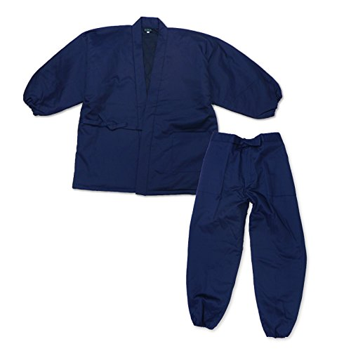 wasuian Men's Samue Working Clothes Quilted Twill Large Dark Navy
