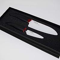 Kyocera FK-2PC WH3 Revolution - Cuchillo de cerámica 1 EA, mango negro /hoja blanca