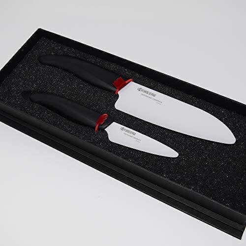 Kyocera FK-2PC WH3 Revolution Ceramic Knife, Black Handle/White Blade