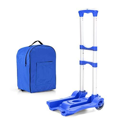 キッチンのショッピングカート、厚くてシンプルな軽量の折りたたみ自転車4セクション伸縮式のショッピングカートの荷物持ち運びが簡単(カラー:D) B07SDRJ81K D