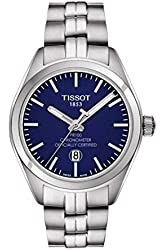 Tissot PR 100 Quartz COSC Lady Blue Dial Stainless Steel Watch T1012511104100
