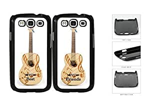 Best Friends Guitar And Musical Notes Set Hard Plastic Snap On Cell Phone Case Samsung Galaxy S3 SIII I9300
