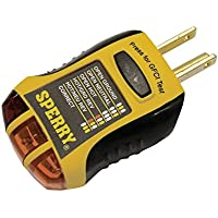 Sperry Instruments GFI6302 GFCI Outlet/Receptacle Tester (Yellow & Black)