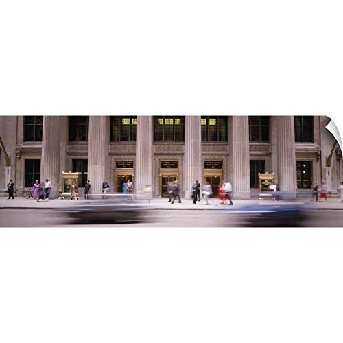 Chicago Lasalle Bank (Canvas on Demand Wall Peel Wall Art Print Entitled Lasalle Street Chicago IL 90