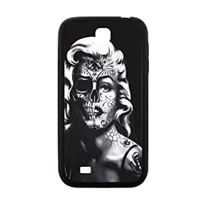 Happy Marilyn skull Case Cover For samsung galaxy S4 Case