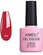 AIMEILI Soak Off UV LED Gel Nail Polish - Red Beam (003) 10ml