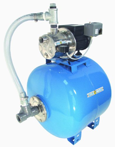 Hp Shall Well Pump (BurCam 506541SS  Shallow Well Stainless Steel Jet Pump on Ml80H Tank, 3/4 hp, 115V/230V)
