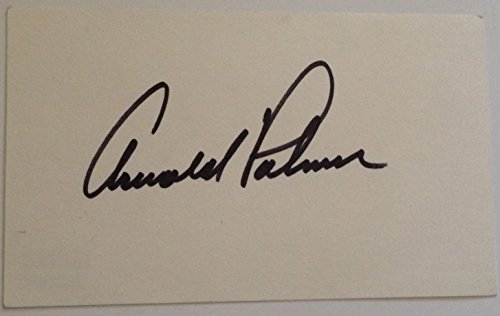 Arnld Palmer signed index card 3x5 size w/ PSA DNA Coa Masters golf