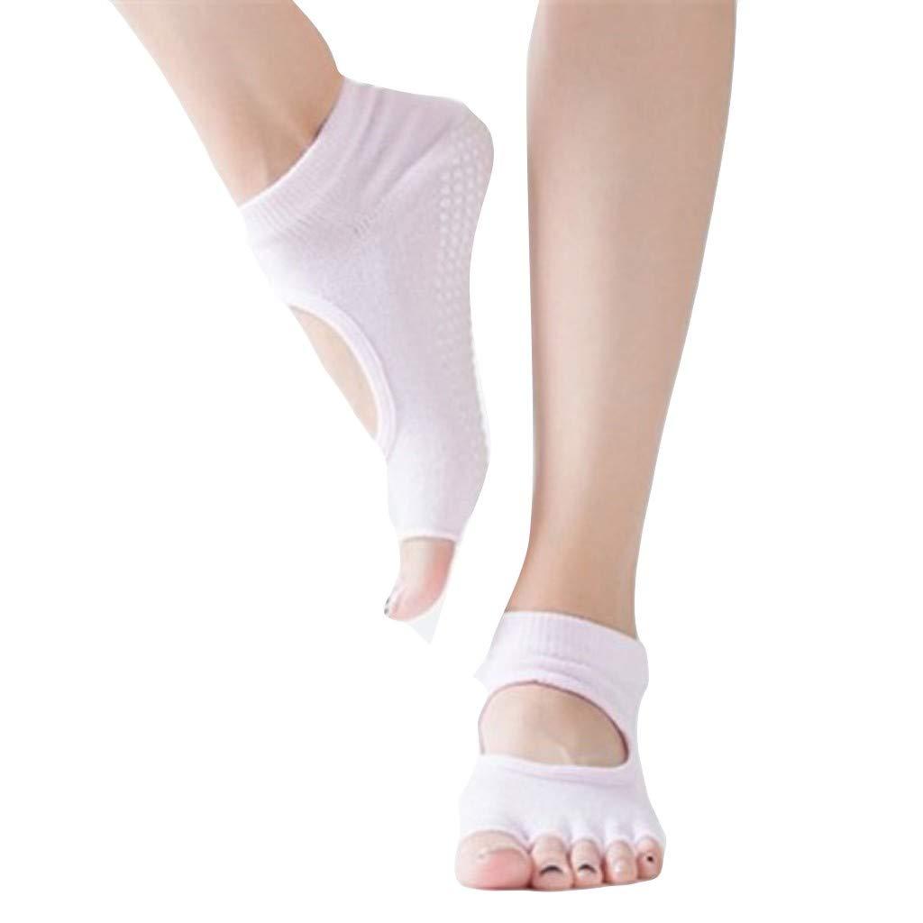 Italily-calzino Antiscivolo Yoga Donna Calze Antiscivolo Adulto Palestra Abbigliamento Danza Pilates Attrezzi Grip Socks Calzini Da Yoga Calzini Altissima Qualit/à Sport Fitness Open Toe Socks
