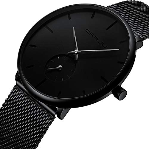Mens Watches Ultra-Thin Minimalist Waterproof - Fashion Wrist Watch for Men Unisex Dress with Stainless Steel Mesh Band WeeklyReviewer