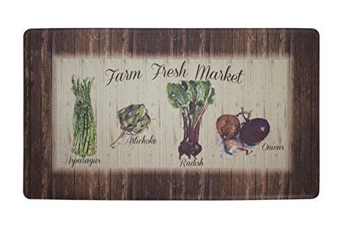 (Chef Gear Farm Fresh Market Anti-Fatigue Premium Memory Foam Kitchen Chef Mat, 20 x 32)