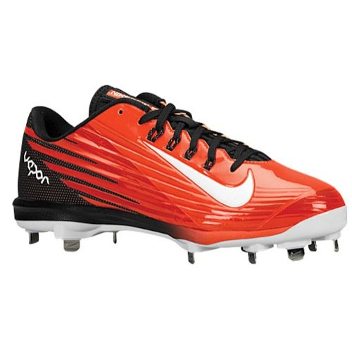 Nike Men's Lunar Vapor Pro Orange/Black Baseball Cleats 683895 810 size 10.5